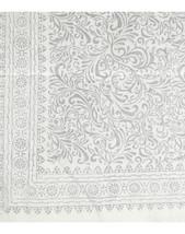 Bomullsduk i vitt och silver